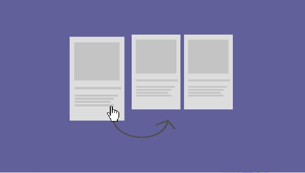 Trabalhe com Drag and Drop para ordernar elementos da sua página